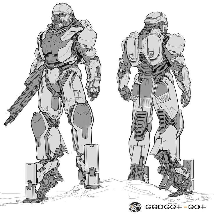 mech suit final line drawing see the full image in high res at