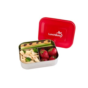 lunchbots: Red Lids, Back To Schools, Schools Lunches, Schools Stuff, Schools High, Trio Stainless, Steel Lunchbox, High Schools, Stainless Steel