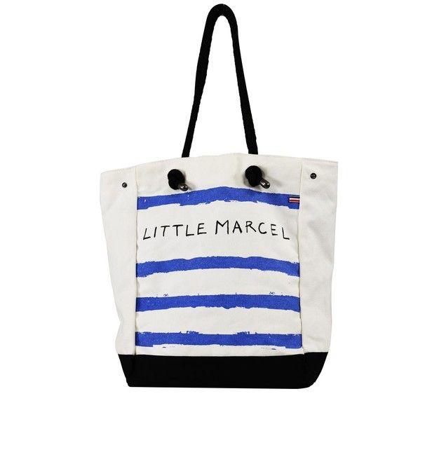 at Galleries Lafayette // Little Marcel - Sac de plage Little Marcel Navidol Marin (49euro)