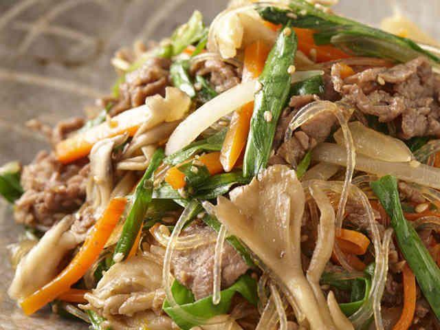 牛肉・野菜がたっぷりの和風チャプチェの画像
