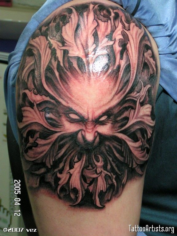 green man tattoo tattoo designs pinterest trees nymphs and back pieces. Black Bedroom Furniture Sets. Home Design Ideas