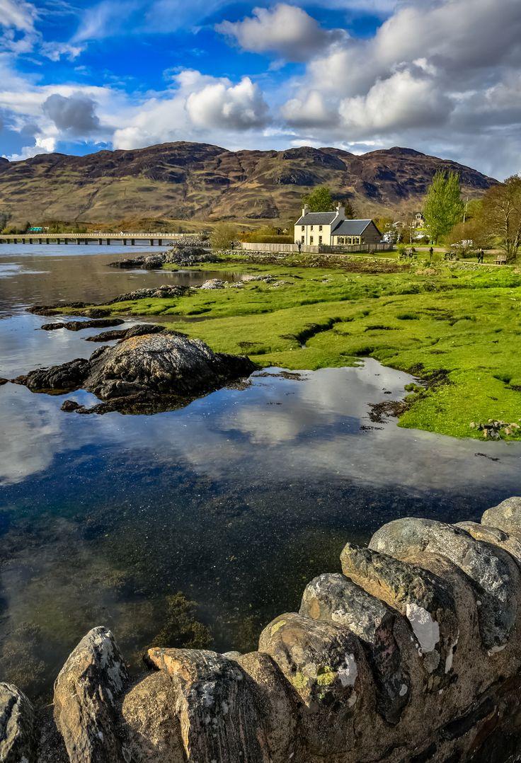 From the stone bridge at Eilean Donan Castle - Highlands, Scotland