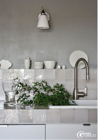 Hand cut and glazed moroccan tiles. As used in Ilse Crawford's kitchen and bathroom.  Emery & Cie - Zelliges