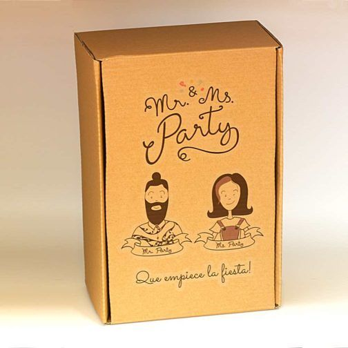 Caja Fiesta Mr & Ms Party #Box #PartyBox #ComicBox #FunBox