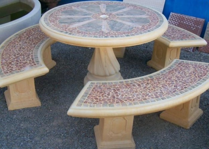 Garden Furniture Precast Concrete Tables Patio Outdoor