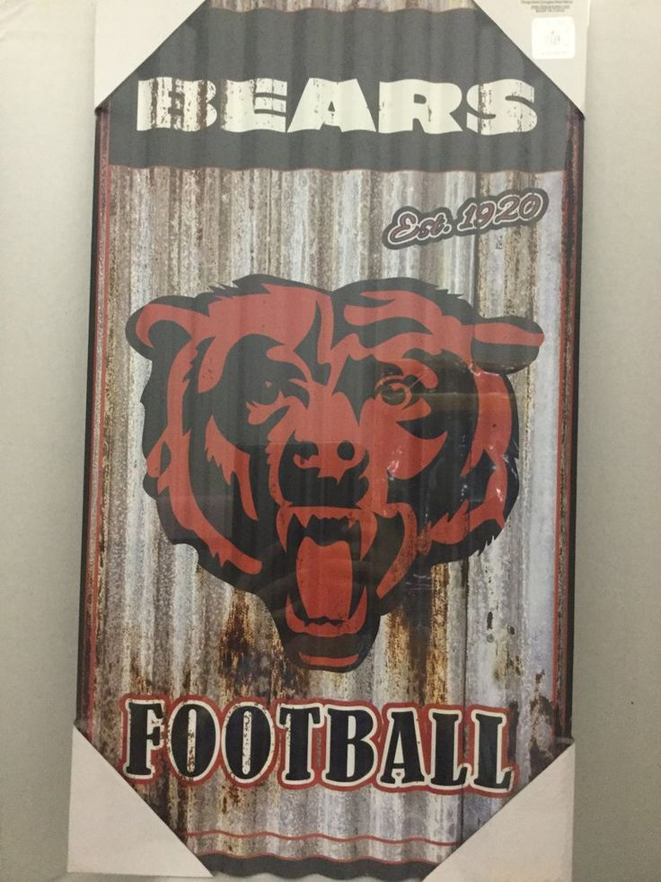 Chicago bears metal wall art sports items corrugated