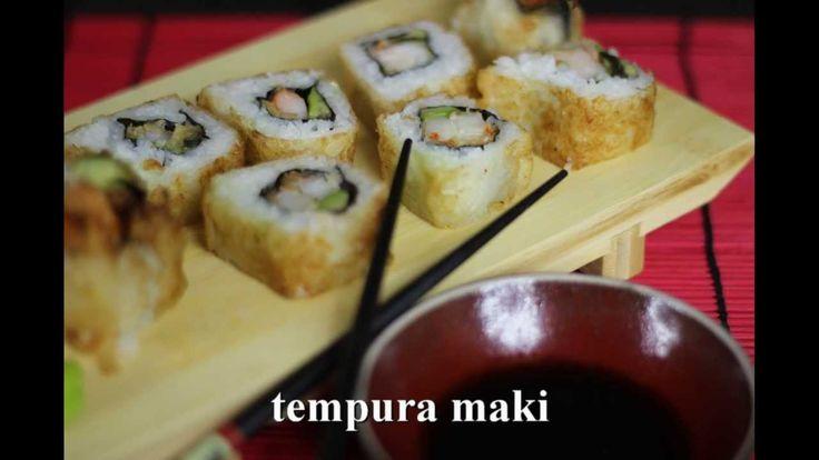 Jak przygotować smażone Tempura Maki z Krewetką - Przepyszne japońskie danie. Obejrzyj przepis Video na krewetki smażone w tempurze, a następnie będące nadzieniem sushi maki. Smakowało? Zostaw nam swój komentarz :)