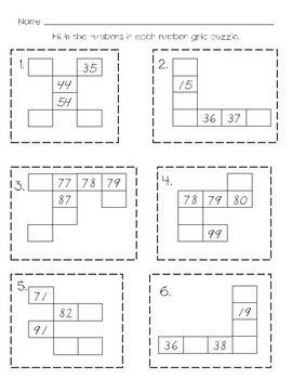 Number Grid Puzzles by Staci Kyro | Teachers Pay Teachers