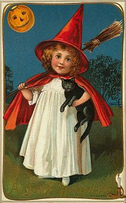 Vintage Halloween images to download.