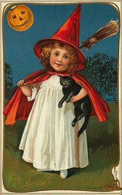 Vintage Halloween images to download.