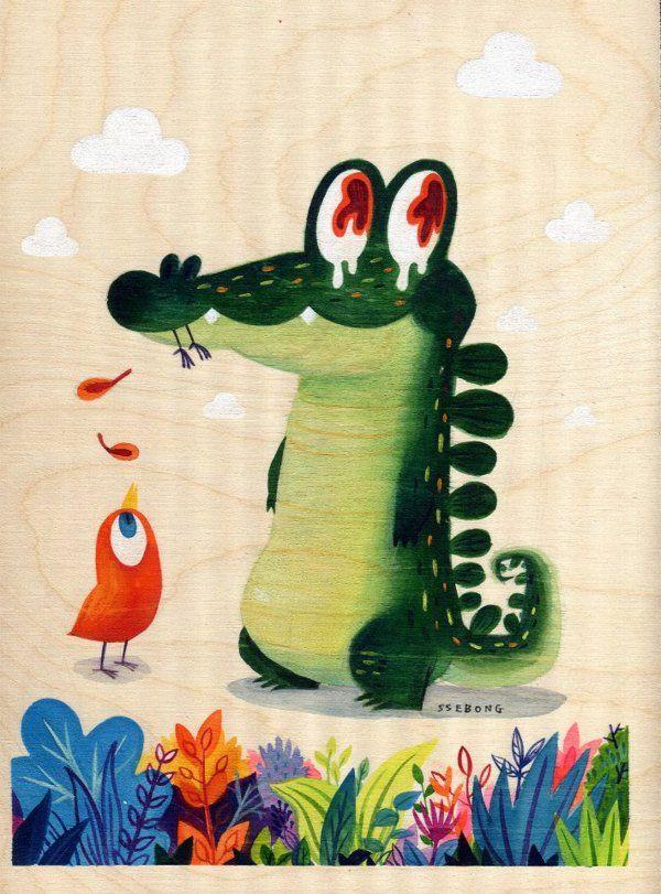 Watercolors. by Ssebong Kim, via Behance