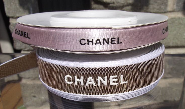 Chanel ribbon Pink or Gold sold by the yard authentic Chanel ribbon by the yard 36 inches