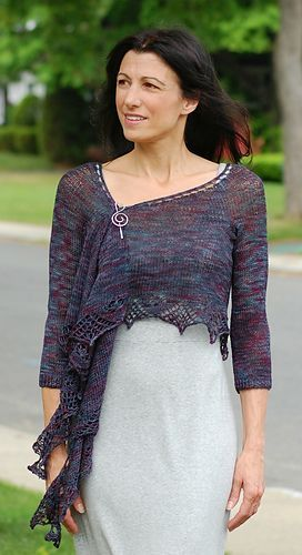 Shleeves. A shawl with sleeves by Mary Annarella on Ravelry #LyricalKnits: