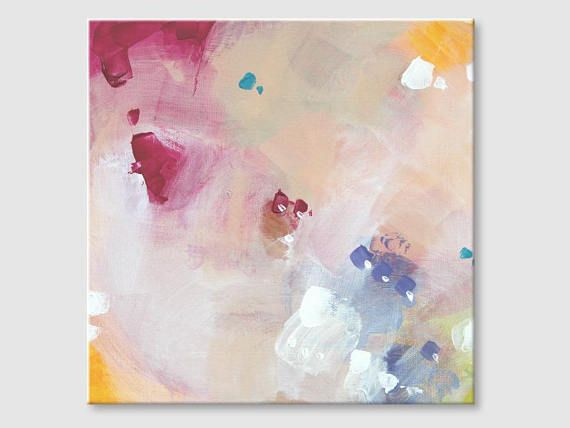Abstract painting by Svetlansa #painting #abstract #svetlansa #homedecor #pink  #blue #beige #artwork #wallart  #abstractart