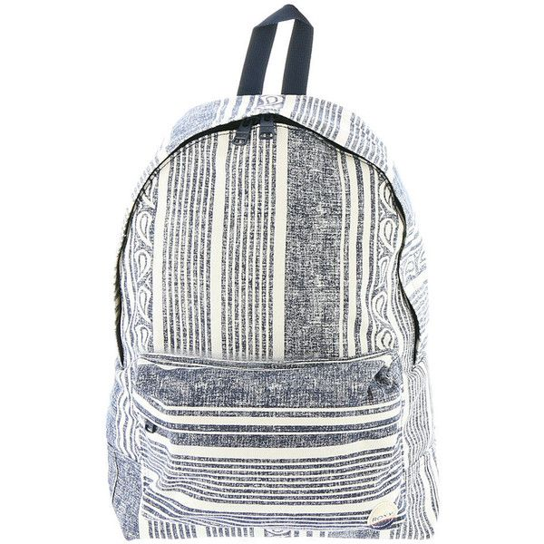 Roxy Baby Canvas Printed Backpack Blue Bags No Size ($40) ❤ liked on Polyvore featuring bags, backpacks, blue, knapsack bag, canvas backpack, roxy rucksack, carryall bag and day pack backpack