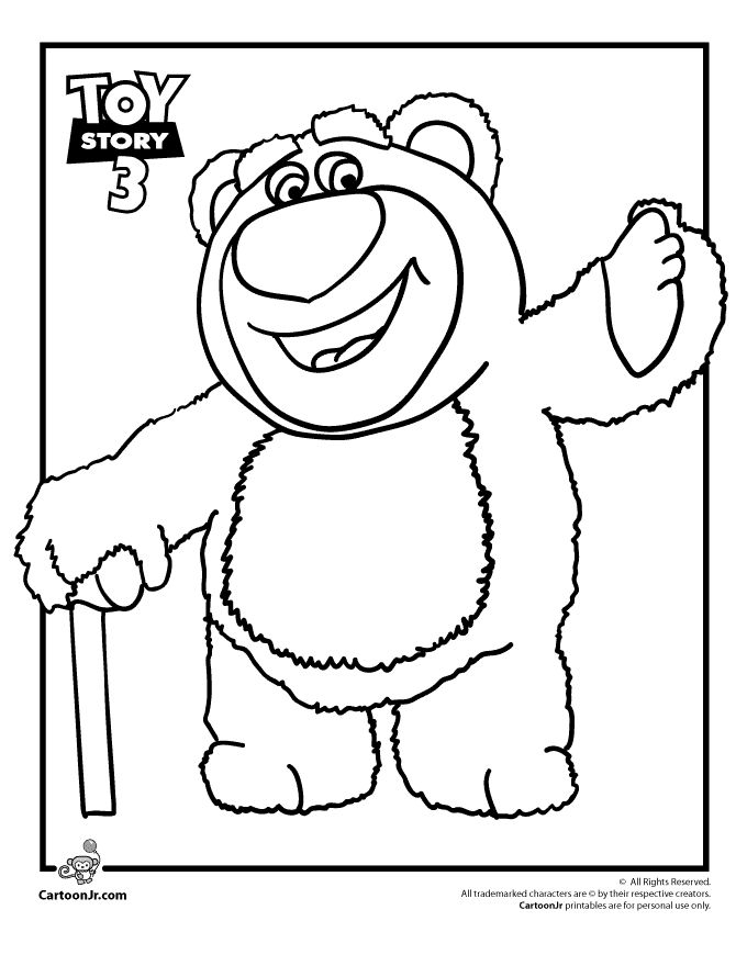 Lots O Huggin Bear Toy Story Coloring Page