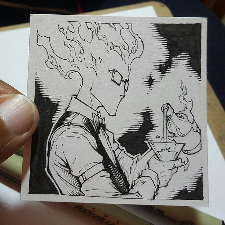 """29 Likes, 1 Comments - Peet Cooper (@peet.cooper) on Instagram: """"Day 14 Undertale Inktober: Grillby, the flaming bar tender. Now that the Kickstarter content is…"""""""