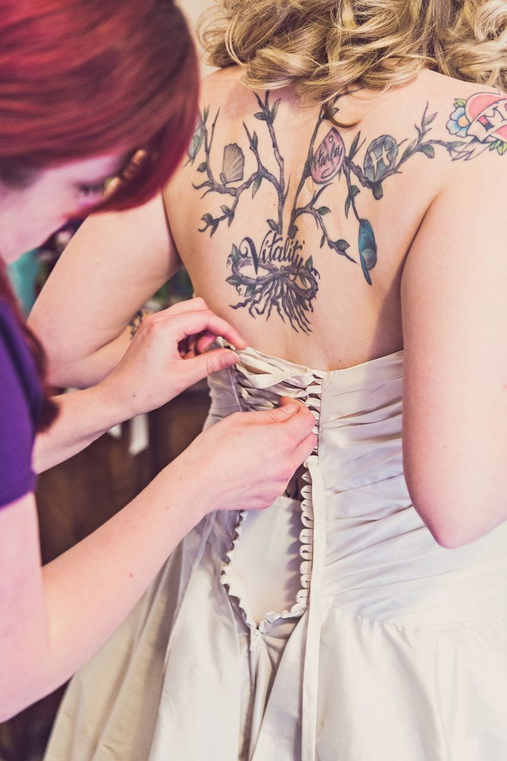bride's tatto