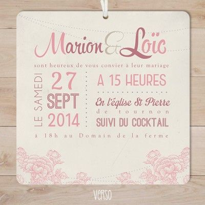 113 best Faire part de mariage images on Pinterest