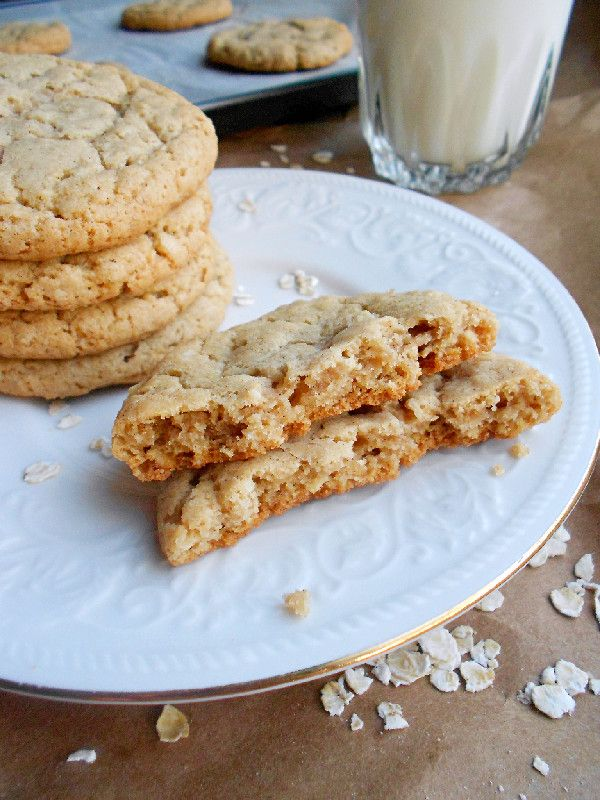 Culinary Couture: Chewy Coconut Oatmeal Cookies. Made with coconut oil which brings out the oatmeal flavor. And texture-wise? They are crispy on the outside and super duper chewy on the inside.