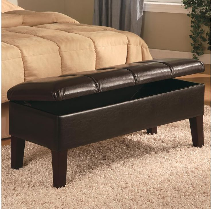 Home Furniture Coaster Furniture Living Room Dark Brown Coffee Table ... bedroom | Storage Bench Dark Brown Leather Button Tufted 300358 | eBay