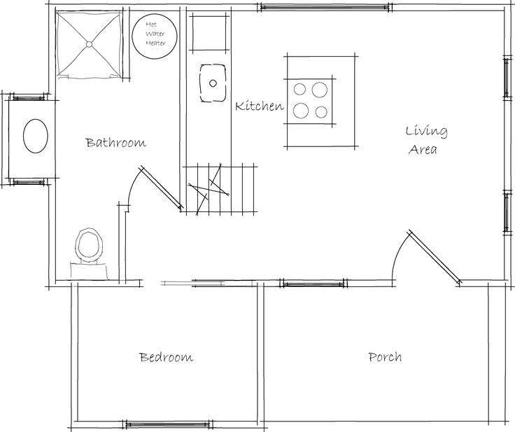 185 best Tiny House Floor Plans images on Pinterest   House floor ...