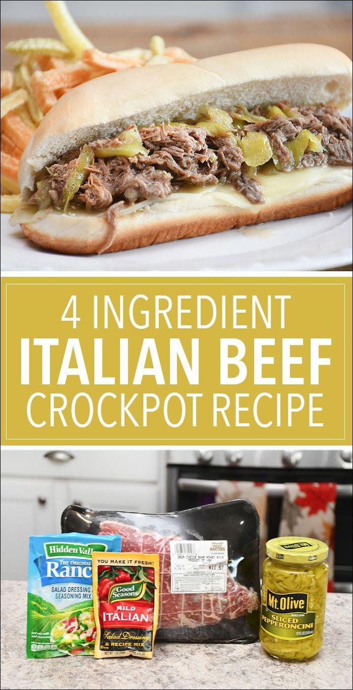 Italian Beef Crockpot – Crock pot cooking – #cooking #Crock #Croc …   – Sandwich