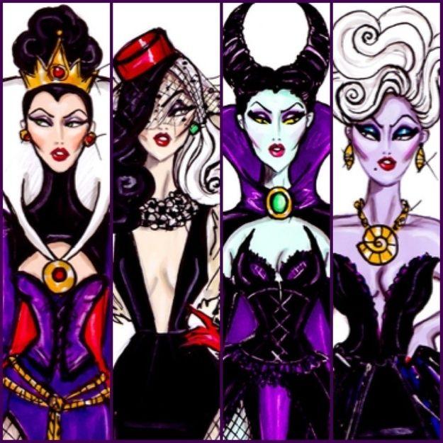 Various artists reinterpret Disney Villains
