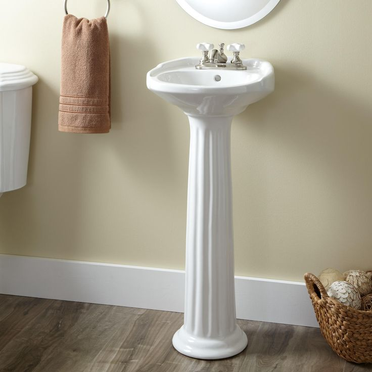 victorian ultra petite wall mount sink bathroom pedestal