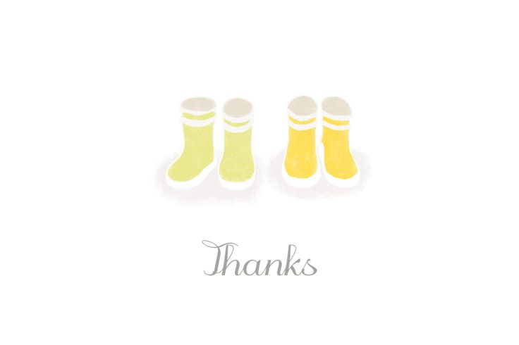Twins bring double the happiness, double the smiles and double the wellies to your household! Thank your loved ones for all their gifts and kind words following the birth of your babies with our Wellies Twins thank you cards.  #twinsbabythankyoucards #babystationery #personalisedbabystationery