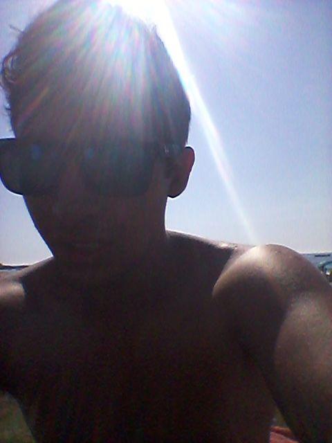 Tomando sol en Cavancha, Iquique