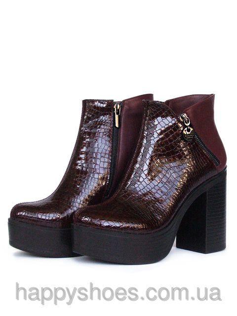 Ботинки на высоком каблуке, фото 1