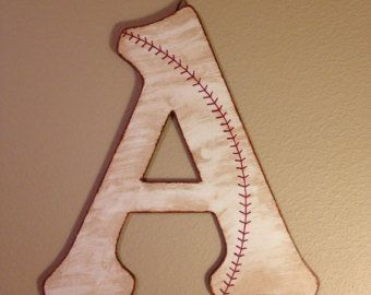 Baseball Nursery Wall Letters-Baseball by TheCrownedLily on Etsy