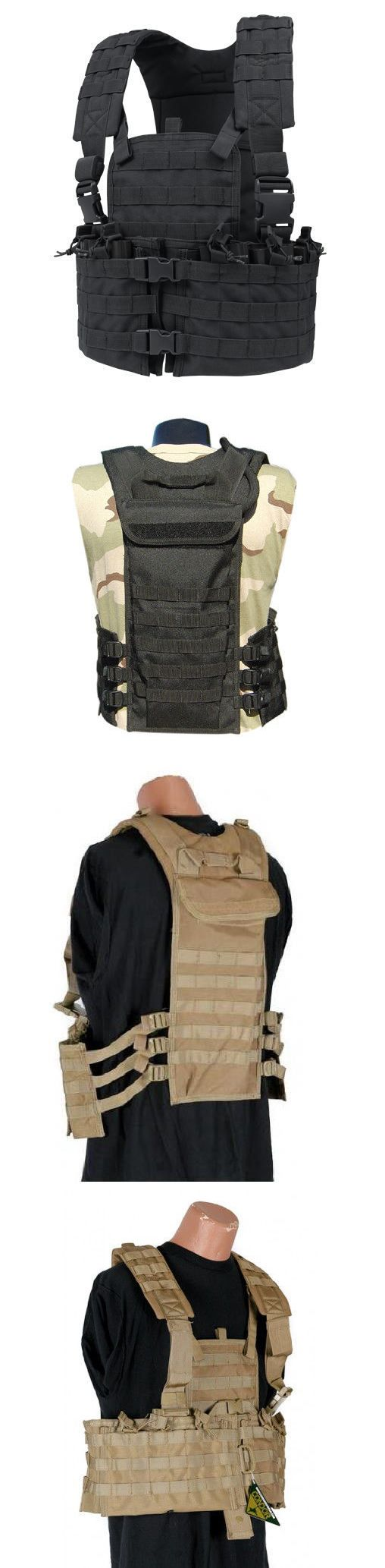 Chest Rigs and Tactical Vests 177891: Condor Cs-002 Molle Modular Chest Set Tactical Nylon Mag Holder Vest Rig Black BUY IT NOW ONLY: $49.95