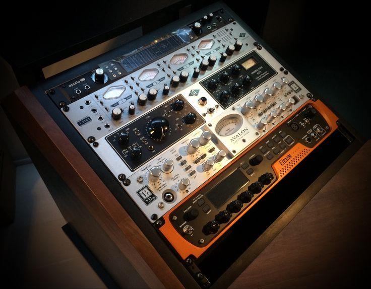set up estudio grabacion, avalon, universal audio, avid