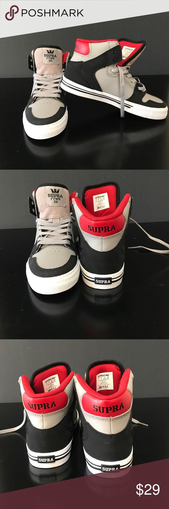 NWOT Supra sneaker for boys or girls. New and awesome high top sneaker.  Size 2 Supra designer brand Supra Shoes Sneakers