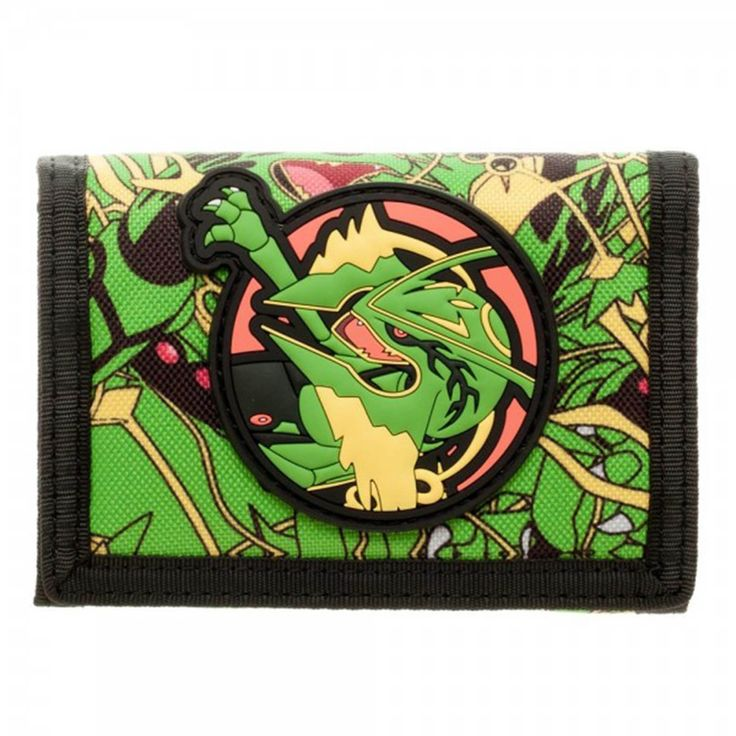 Pokemon Rayquaza Velcro Tri-Fold Wallet