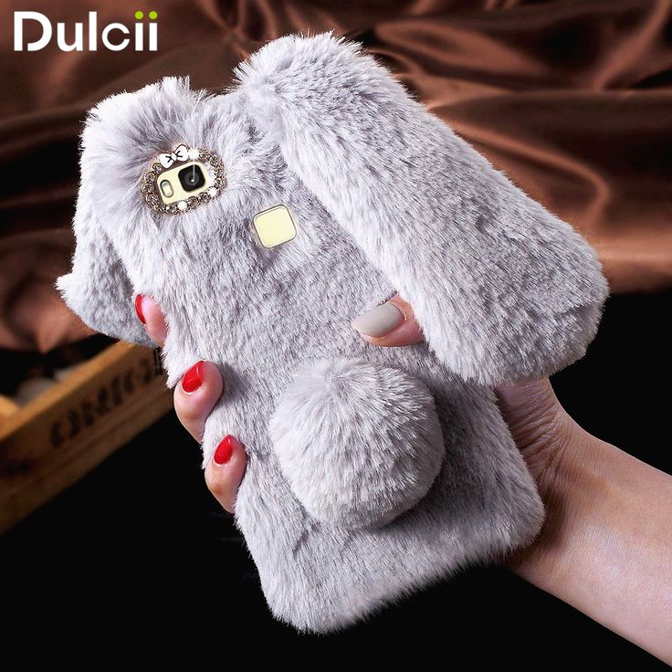 For Huawei P9 Lite / G9 Lite Rabbit Style Fluffy Warm Bunny Fur Phone Shell Phone Case fundas for Huawei P 9 Lite Phone Cover