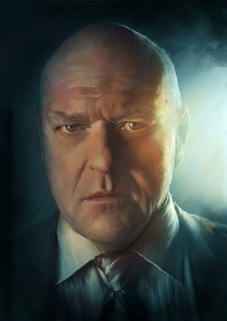 Breaking Bad : Hank Schrader // Illustration by Richard Davies