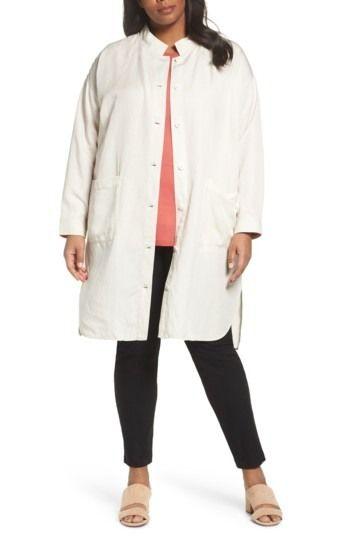 ae8c75e5819 Long Tencel Lyocell   Linen Jacket (Plus Size) by Eileen Fisher on   nordstrom rack