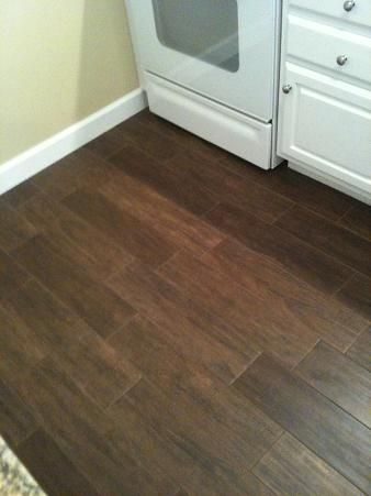 random pattern wood tile floor, This is what I decided to do for my house, in a pecan color.