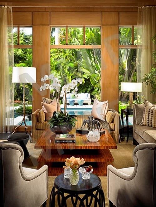 Tropical   Living Room   Other Metro   Marc Michaels Interior Design
