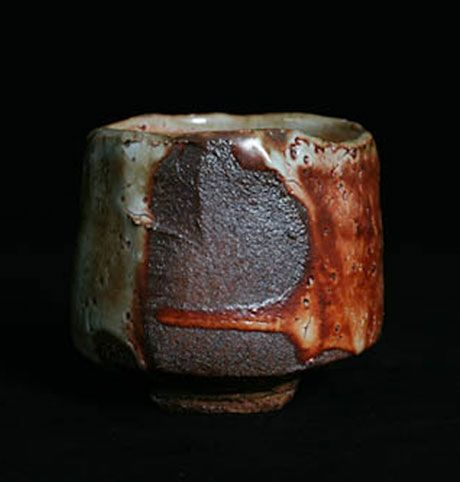 Lisa Hammond. Faceted Red Shino Chawan
