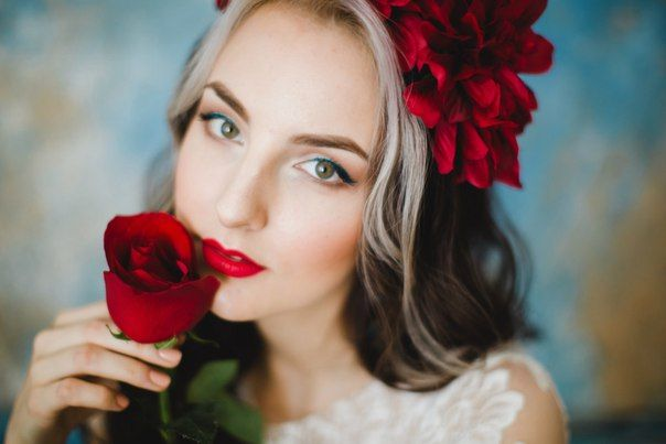 Wedding makeup, red lips Wedding stylist Свадебный стилист Новосибирск Свадебный макияж Красные губы