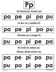 Resultado de imagen para silabas en español para ninos dictar