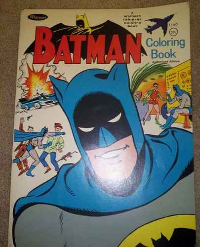 1966 Whitman Batman Coloring Book DC Comics