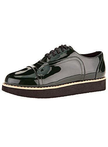 Oferta: 28.7€ Dto: -31%. Comprar Ofertas de oodji Collection Mujer Zapatos Tipo Oxford de Piel Sintética, Verde, 37 EU / 4 UK barato. ¡Mira las ofertas!