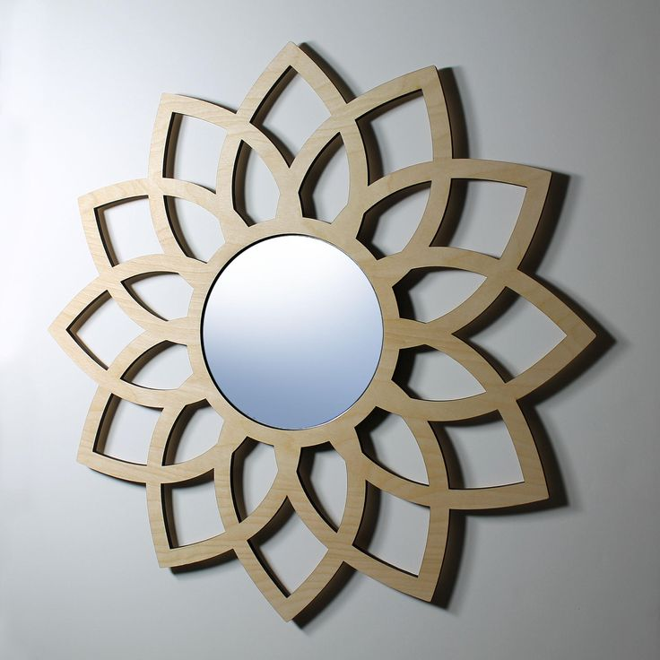Lotus wall mirror 6 mirror from nygaard design for 4 x 5 wall mirror