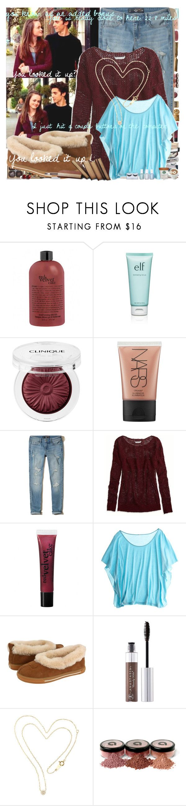 """""""You looked it up :) ♡"""" by sammylynn ❤ liked on Polyvore featuring philosophy, e.l.f., Clinique, NARS Cosmetics, Hollister Co., American Eagle Outfitters, November, Calypso St. Barth, UGG Australia and Anastasia Beverly Hills"""