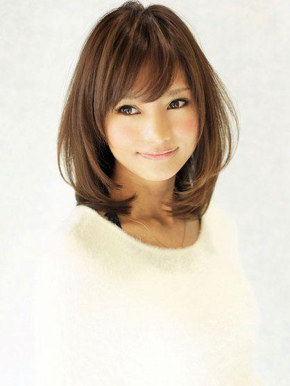 トップにボリューム加えて可愛いミディアムヘア☆ | 銀座の美容室 AFLOAT JAPANのヘアスタイル | Rasysa(らしさ)